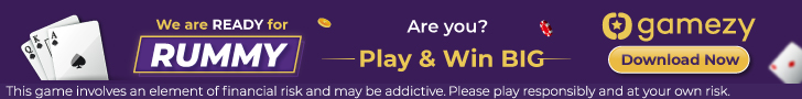Sign up on Gamezy Rummy