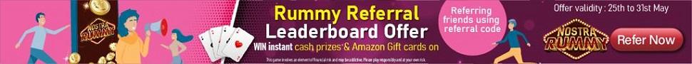 Nostra Rummy Referral Leaderboard offer