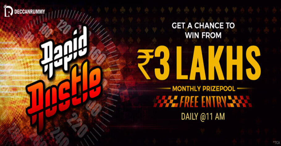 Deccan Rummy's Rapid Rustle Promotion Offers FREE Entry & A Prize Pool Worth ₹3 Lakh