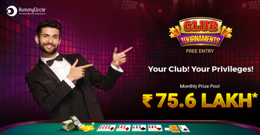 RummyCircle Offers FREE Entry To Club Tournaments