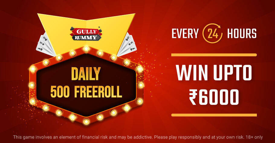 Gully Rummy's Daily 500 Freerolls Is The Perfect Treat For You