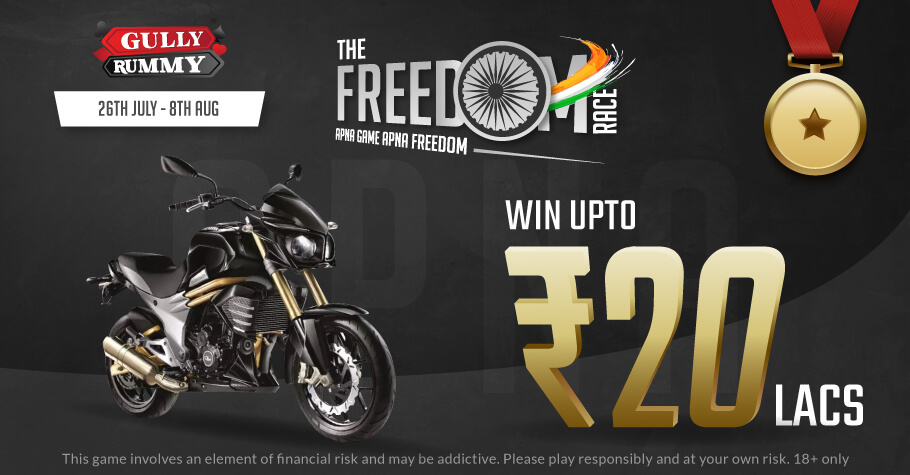 Gully Rummy's The Freedom Race Offers ₹12 Lakh Worth Of Prizes