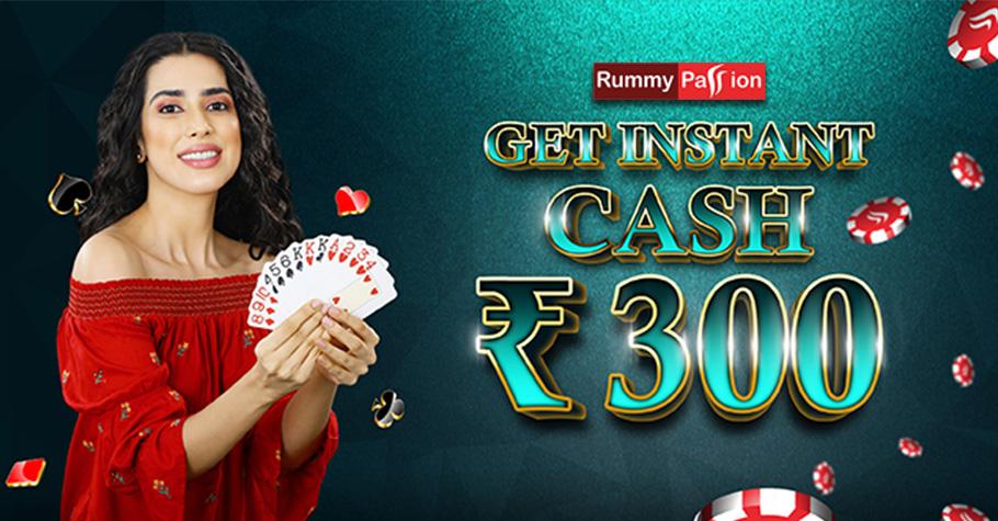 Rummy Passion's 300 Cash Bonus Awaits Rummy Players
