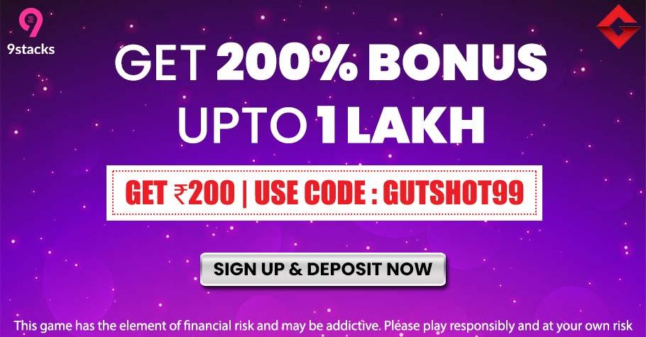 9stacks Rummy launches 200% deposit bonus in India!