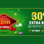 Get Up To 30% Extra Bonus With Rummy Villa's Festive October