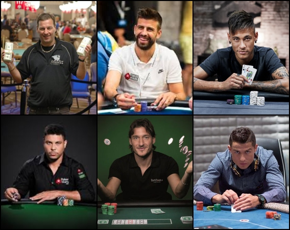 6 footballers who love to play poker
