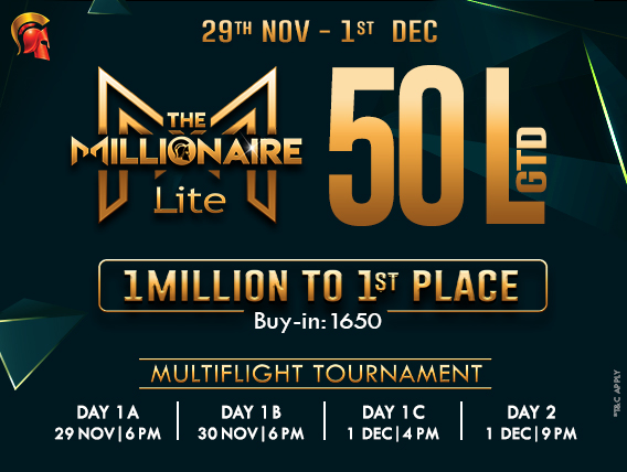 Now become a Millionaire at just INR 1,650 on Spartan!
