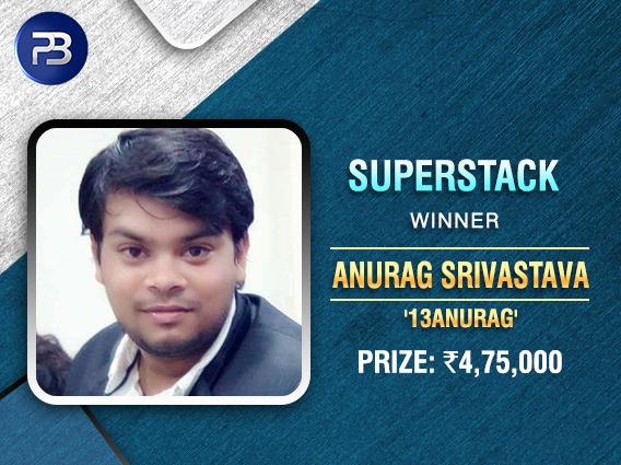 Anurag Srivastava wins BSS SuperStack on PokerBaazi