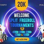 It's raining freerolls on PokerTempo, register now!